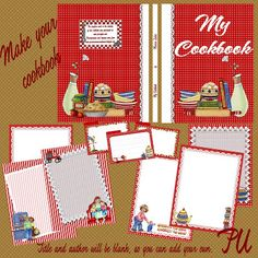 Free make your own cookbook cover and recipe pages for download
