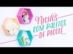 Decoração (Sala) - Nichos com palitos de picolé - DIY