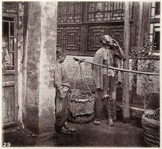 China c 1870 by Johm Thomson, Street Vendor