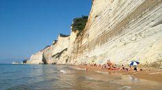 #Corfu Peroulades beach, #Sunset #beach