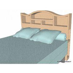 Patron meuble en carton - Tête de lit Halba 2 personnes de L'Atelier Chez Soi