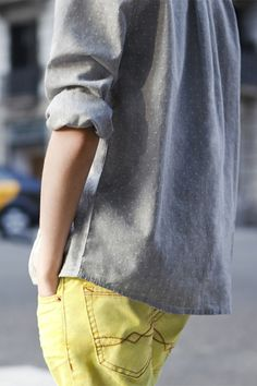 yellow/grey combo love this!