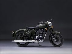 The Royal Enfield Bullet Classic. Now available as a Battle Green version, paying homage to the company's long relationship with the Indian Army. The association dates back to 1949, when Royal Enfield first set up an operation in Chennai to build a military spec 350 cc Bullet.