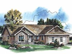 Eplans Cottage House Plan - Three Bedroom Cottage - 1374 Square Feet and 3 Bedrooms from Eplans - House Plan Code HWEPL61682