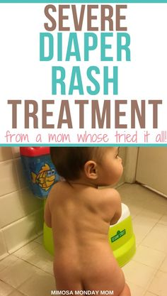 Severe Diaper Rash Treatment (from a mom whose tried it all!) A stubborn diaper rash on your poor babes bottom is just awful! What's even worse is when it. Treat your babies severe diaper rash with these trick Yeast Diaper Rash, Bad Diaper Rash, Best Diaper Rash Cream, Diaper Rash Remedy, Newborn Diapers, Newborn Care, Cloth Diapers