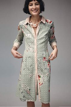 Bloomed Eyelet Shirtdress