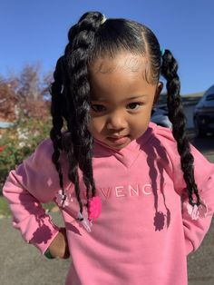 Black Baby Hairstyles, Mixed Kids Hairstyles, Cute Little Girl Hairstyles, Cute Little Girls Outfits, Natural Hairstyles For Kids, Natural Hair Styles, Childrens Hairstyles, Twist Hairstyles, Cute Mixed Babies