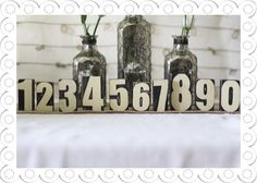 Set Of Wooden Table Numbers