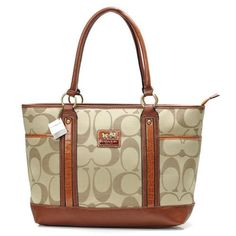 Want it. It can save 50% now on the site.Coach Madison In Signature Large Khaki Totes outlet.
