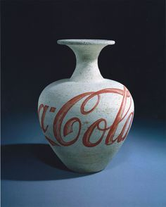 Ai Weiwei, Coca Cola Vase, 1997. Vase from the Tang Dynasty, 618-907 and paint.  (sigh)
