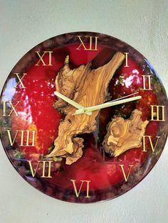 Wall Clock Wooden, Wood Clocks, Wooden Walls, Wood Resin Table, Epoxy Resin Wood, Handmade Wall Clocks, Unique Wall Clocks, Wall Clock Design, Diy Clock