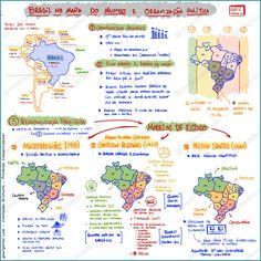 Mapa Mental  Brasil no mapa do mundo e Organizacao politica…