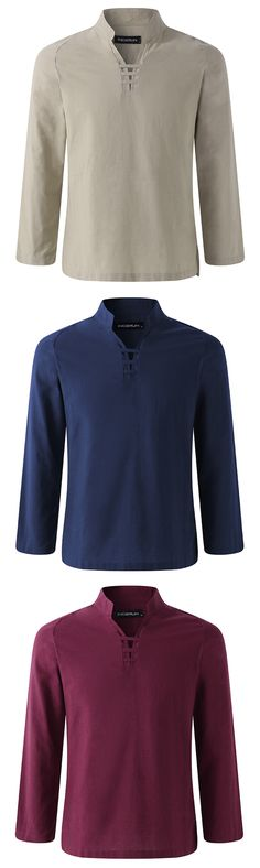 UP TO 55% OFF! Men's Linen Long Sleeve T Shirt and Tops. SHOP NOW!