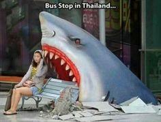 Bus stop in Thailand