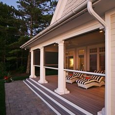 We're leaving the cooking location today, as well as likewise into the screened in porch. I'm sharing screened in porch ideas on specifically how to make the most of a little budget. Br House, House With Porch, Back Patio, Backyard Patio, Porch Kits, Porch Ideas, Traditional Porch, Building A Porch, Patio Interior
