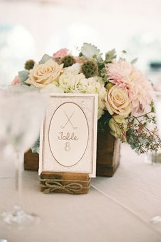 Pink Rustic Virginia Wedding at Thomas Birkby House Table Numbers golf clubs Event Design and Planning by Urban Lace Events www.urbanlaceevents.com