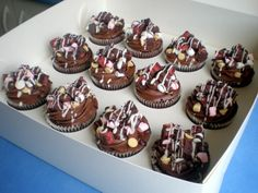 Rocky Road Cupcakes - topping idea