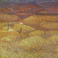 Bridget Riley - pink-landscape