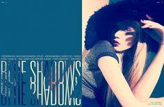 Designspiration — Blue Shadows   Volt Café   by Volt Magazine graphic design typography