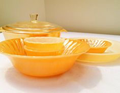 Vintage Fire King Peach Lustre