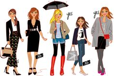 illustrations mode pour Cristina Cordula