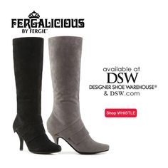 Boots can be worn with just about any fall fashion. A little detail on the ankle or toe adds just the right amount of flare to an otherwise basic look. Heads will turn as you strut your stuff in the Fergalicious by Fergie WHISTLE boots from DSW Designer Shoe Warehouse!