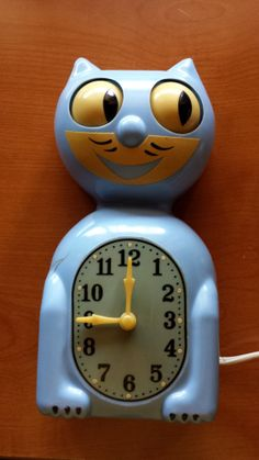 Early 40s Kit Cat Clock Rare Blue Color ON by SeansTreasureBox, $159.00