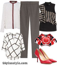 Ideas for outfits that mix patterns and prints | 40plusstyle.com