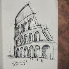 Dia 73: Coliseu, Roma. #desenhosdoalti #desenhos #sketch #sketchers #sketchbook #art #artlovers #artbrazil #artworks #instaart #instartist #illustration #UmDesenhoPorDia #Weekend #dibujo #pen #retrato #draw #drawing #iLike #FTA #ArtAutorias #projetoartistadivulgado #Arquitetura #Urbanismo #Historia #Roma #Coliseu