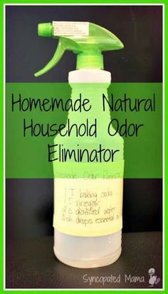 Homemade Natural Household Odor Eliminator (aka Febreeze) using essential oils Homemade Cleaning Supplies, Household Cleaning Tips, Cleaning Recipes, House Cleaning Tips, Cleaning Hacks, Household Cleaners, Household Products, Teeth Cleaning, Pet Products