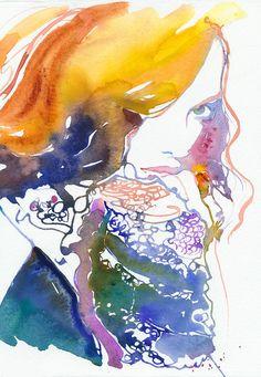 Print of Watercolour Fashion Illustration. by silverridgestudio