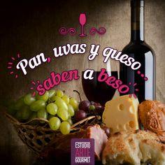 Pan, uvas y queso...saben a beso