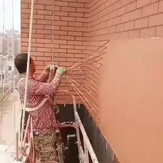 How to make a brick house in China - Gif In China, Mur Diy, Fake Brick, Brick Laying, Diy Craft Projects, Diy Crafts, Brick Wall, Diy Wall, Interior Design Living Room
