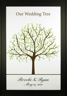 Love this idea for your wedding guest book - a Thumbprint Tree! Guest Book Tree, Wedding Tree Guest Book, Tree Wedding, Our Wedding, Wedding Bells, Thumbprint Guest Books, Thumbprint Crafts, Thumbprint Tree, Wedding Coordinator
