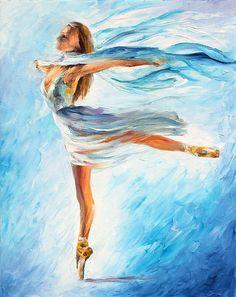 0312  The Sky Dance Print by Leonid Afremov