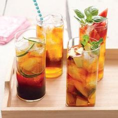 Watermelon and Basil Iced Tea Recipe | MyRecipes.com