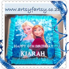 Frozen Edible Picture Cake #frozenediblepicturecake