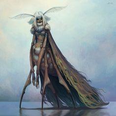 Moth queen by lina kit fantasy, sci-fi creatures fantasy art Character Design Cartoon, Character Art, Fantasy Inspiration, Character Design Inspiration, Animation, Comics Illustration, Alien Concept Art, Fantasy Kunst, Creature Concept