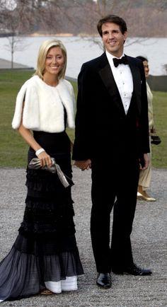royalwatcher:  Crown Prince and Crown Princess Pavlos of Greece at King Carl Gustaf's 60th birthday celebrations, April 29, 2006