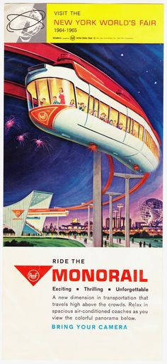 Flyer for AMF Monorail at the 1964 World's Fair in New York City
