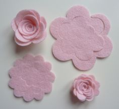 Make your own 3d style felt flowers/roses. Ideal for sewing projects,felt flower crown, headbands,felt flower garlands, bunting and weddings by cutzbothways on Etsy https://www.etsy.com/listing/267344602/make-your-own-3d-style-felt-flowersroses
