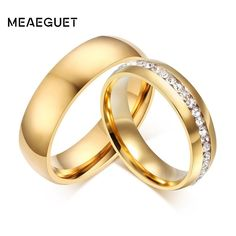 Keisha Lena Rose Gold-color Fashion Polish Rings Lovers Rings Shinning Finger Rings Stainless Steel Jewelry Free Shipping Jewelry & Accessories