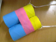 Earth day Crafts: Toilet Paper Roll Binoculars Craft for Kids