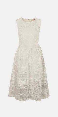 Cream Crochet Day Dress