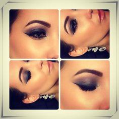 Smoked out glam. #smokey #eye #eyeshadow #makeup #nude #lips #face #glamorous #love #eyeliner#eyebrows #highlight jennkworkman.tumblr.com