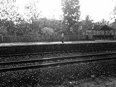 Railway platform in India