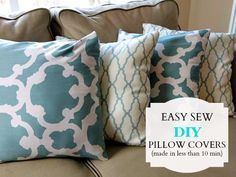Quick and Easy Sew Pillow Cover Tutorial