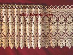 """Allium is another fine Heritage Lace Macrame Window Valance imported from France.  It is available in 16"""" and 24"""" in length.  The pricing starts at $11.95 per foot of width."""