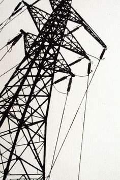 After it has been raining. You hear that frizzling sound of spurting electricity passing through. Very much how The Furious Reaping Angels come. Like 1000 earthquakes going off at the same time. Transmission Tower, Haute Tension, Pole Art, Natural Structures, A Level Art, Textile Prints, Urban Art, Art And Architecture, Cool Photos