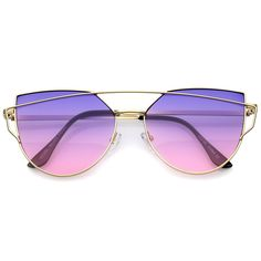 054fbdda6a Women s Retro Modern Cross Bar Gradient Lens Sunglasses A952